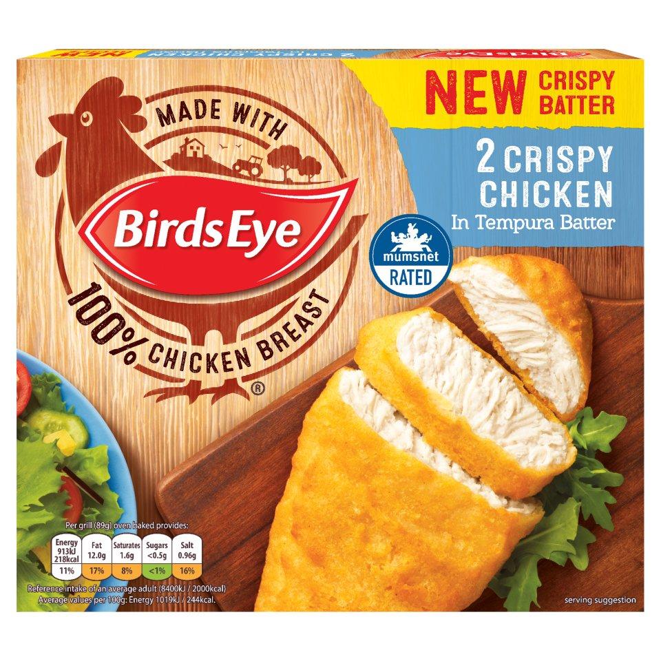 Birds Eye 2 Crispy Chicken in Tempura Batter 170g £1 @ iceland