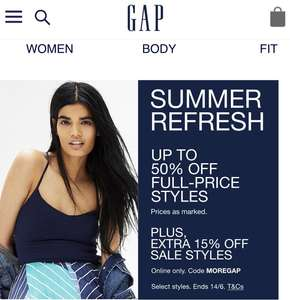 50% off with a further 15% off with code MOREGAP