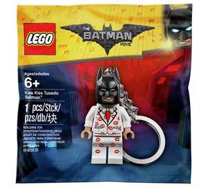 The LEGO Batman Movie Kiss Kiss Tuxedo Batman Keyring (Was £4.99)  £2.49 @ Argos