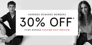 30% OFF till 28th June + £30 off £100 spend with AMEX @ Harrods