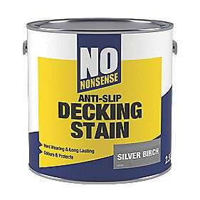 2 x 2.5 litresNO NONSENSE ANTI-SLIP QUICK-DRYING DECKING STAIN 2.5LTR VARIOUS COLOURS - £20 @ Screwfix
