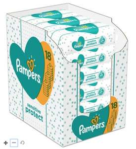 18 Packs of Pampers Sensitive wipes for £10 @ Boots