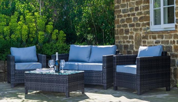4 Piece Rattan Garden Furniture Set from Sue Ryder Online Shop - £299.99