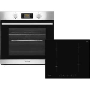 Hotpoint electric single oven + induction hob package. £424 (after £25 code and £40 cashback).
