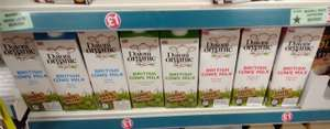 Daioni Organic British Sterilised UHT Cows' Milk Whole/Semi-Skimmed/Skimmed Options - 1 Litre, £1 In Store @ Poundland