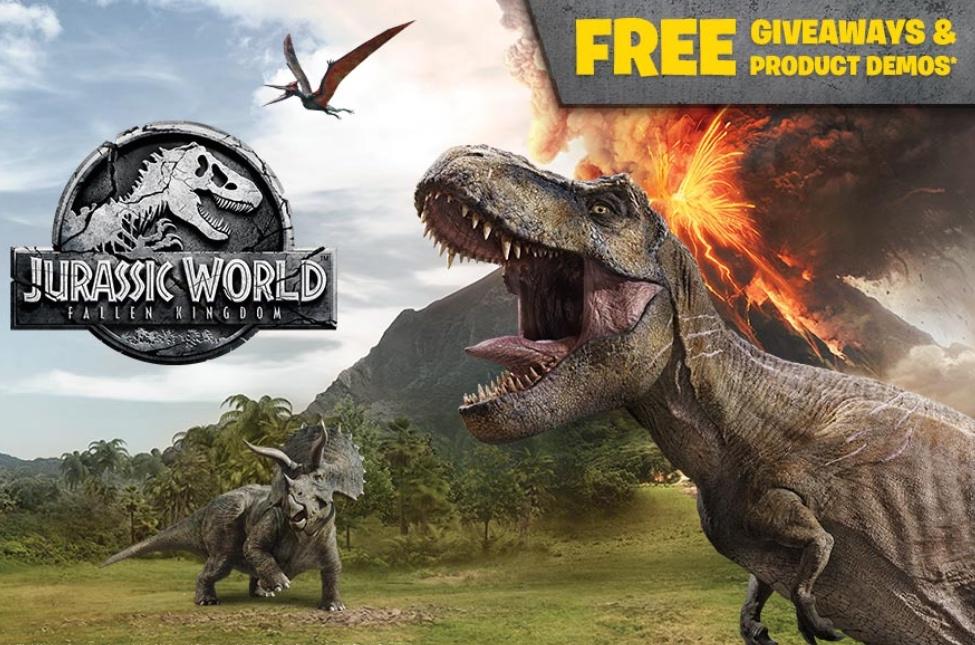 Jurassic World Day - Free giveaways including Jurassic Park blindbag + LEGO Baby Velociraptor Playpen + activity packs + product demos @ Smyths instore (16th June)