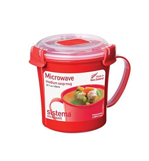 Sistema red medium soup mug at Amazon - £2.66 Prime / £7.15 non-Prime