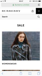 Burberry Summer sale started! Up to 50% off