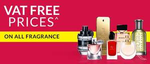 VAT Free prices on ALL fragrance and aftershave @ Debenhams ends this Saturday