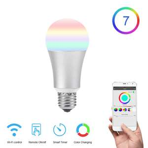 FUNRY TB-Y E27 Smart Bulb WiFi Led Light Bulb Dimmable RGB Changing Lights Remote Control Bulbs Work With Alexa -White £6.92 geekbuying