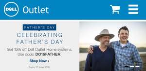 Dell outlet  15% off all Home systems