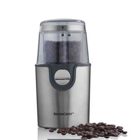 Nice looking coffee grinder for £9.99. 3 years warranty @ Lidl
