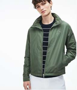 Lacoste jacket summer sale e.g men's short zip taffeta windbreaker £96 -  plus 5 per cent quidco