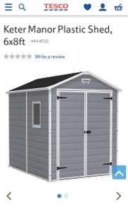 Keter manor plastic shed - £225 / £232.95 Delivered @ Tesco Direct