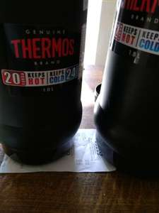 Large Thermos flasks in store at Tesco - 1.8l - £4.50 / 1l - £4 / 500ml £3