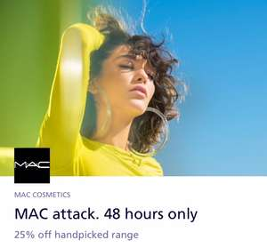 25% off 38 different MAC products including mineralize blush & liptensity lipstick plus free delivery and free sample with O2 priority code @ Mac