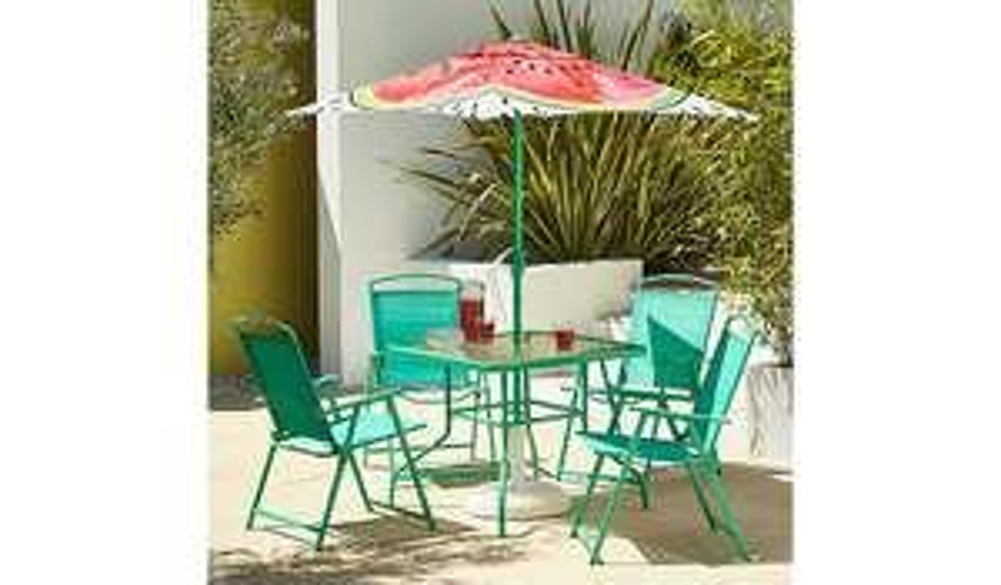 Watermelon 6 Piece Patio Set features in our Garden Furniture collection £89 + £14.95 Del @ Asda