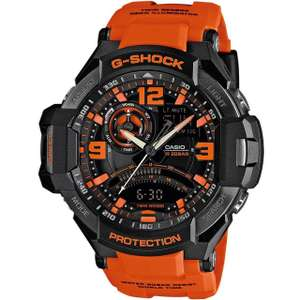 G-SHOCK AVIATOR BLACK DIAL ORANGE STRAP TWIN SENSOR WATCH, £135 at H Samuel-with code