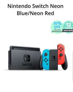 Back in stock - Nintendo switch £193.59 with code spring20 at MusicMagpie (refurb)