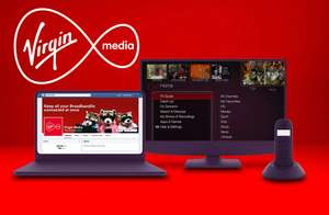 Virgin Media 100Mb Fibre, line rent, weekend calls & TV box equiv £20.67/mth - £248 OVER 12MTH CONTRACT with code BRB745M via MSE