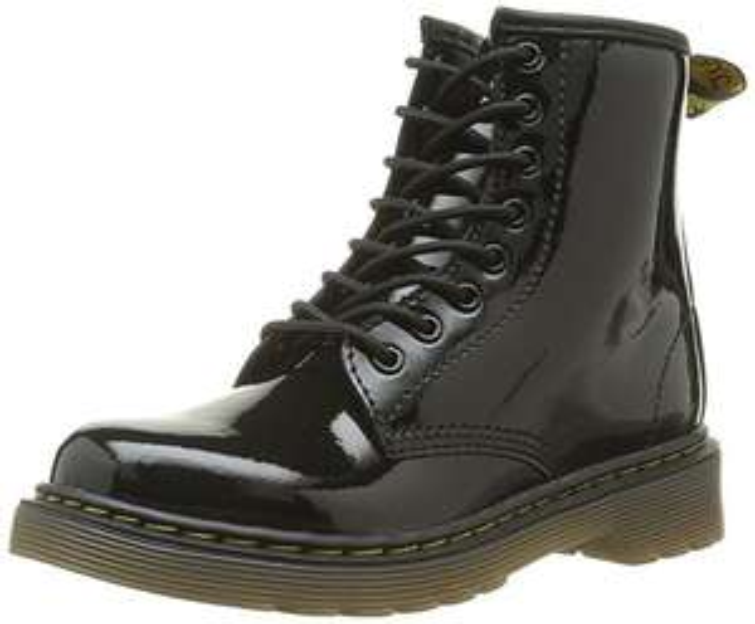 Dr. Martens Delaney Patent Black, Unisex Kids' Boat Shoes, Black, 10 Child UK £22.09 Amazon