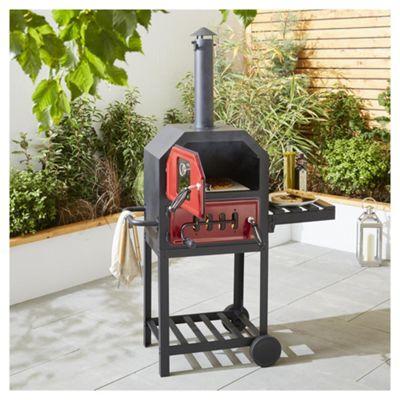 Tesco Charcoal Multifunction Pizza Oven with Side Shelf £60 C+C @ Tesco Direct