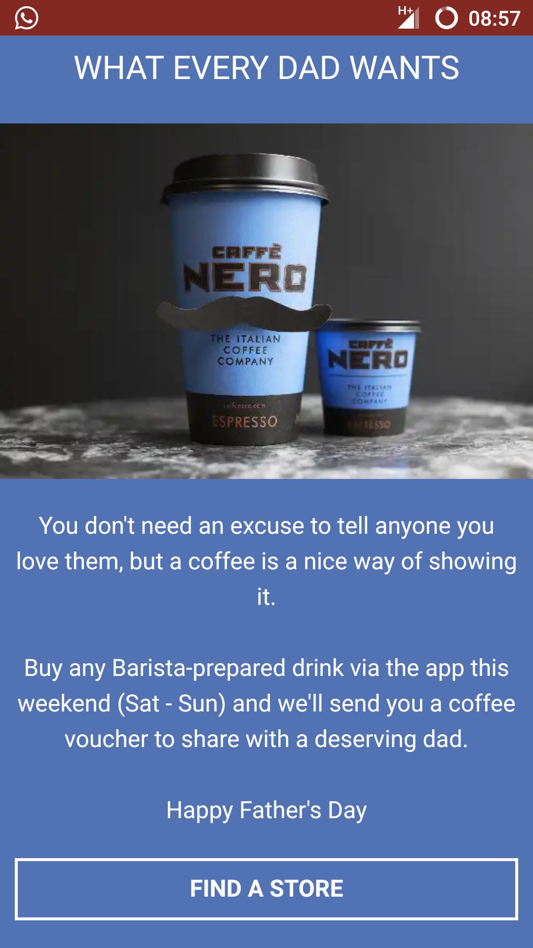 BOGOF this weekend at Caffè Nero - Va App