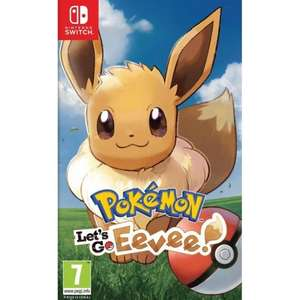 Lets go eevee or pikachu £40.45 with code @ Thegamecollection Nintendo switch
