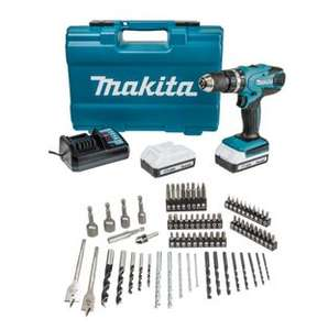 Makita HP457DWE10 18V Li-Ion 1.5Ah Cordless G-Series Combi Drill & 74 Piece Accessory Set £99 w/code @ Wickes (C&C) See OP