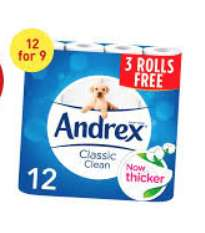 Andrex 12 rolls for 9 £3.50 at Waitrose instore - longfield, Kent