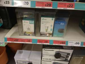 Reduced tp link smart stuff - TP link Smart Wifi Plug £18 / TP link Smart Wifi LED bulbs £18 instore at Chiswick Sainsburys