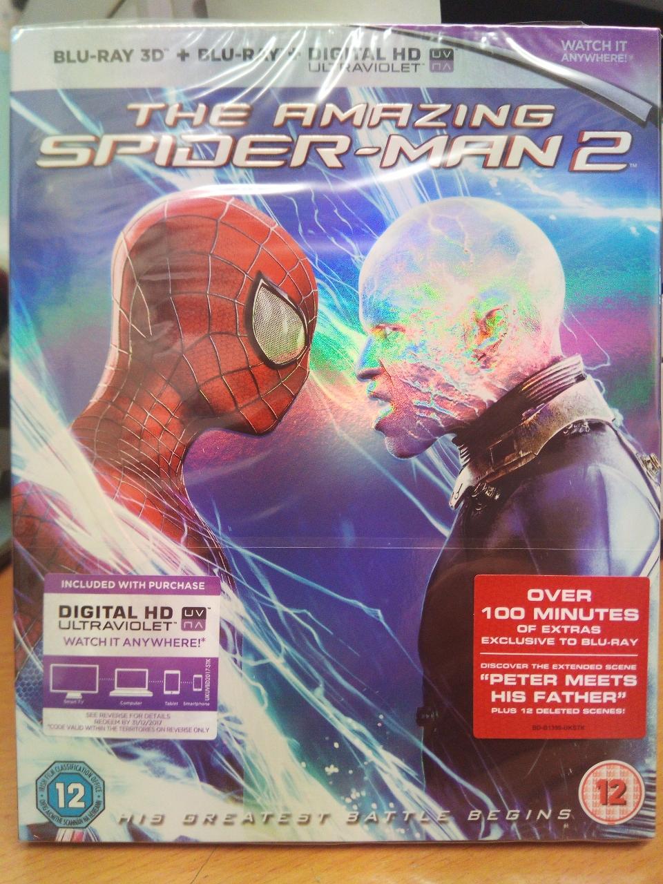 The Amazing Spiderman 2 Blu Ray 3D + Blu Ray + U/V Digital Copy £1 in store @ Poundland