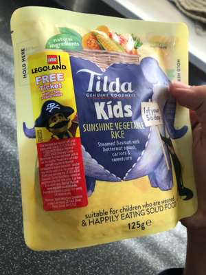Free LEGOLAND Ticket! (with full paying adult)  Tilda kids rice £1 @ Tesco