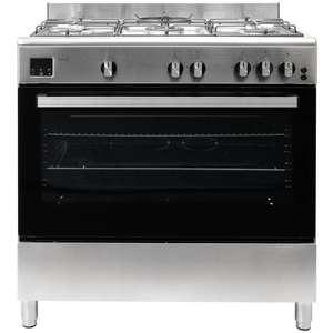 Teknix 90cm Gas Range Cooker in Stainless Steel OR Black with 2 Year Warranty now £373.99 delivered @ co-op electrical