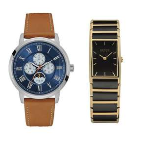 Bering Ladies Bering black and gold tone WAtch £71.450 /  ​Men's Guess Delancy tan strap watch £63 / Calvin Klein Colour watch black and yellow design - £69.53  @ Chapelle (Both with 2 yrs warranty / inc del)