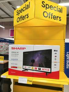 "Sharp 40"" 4K Smart TV £279 @ Tesco (instore)"