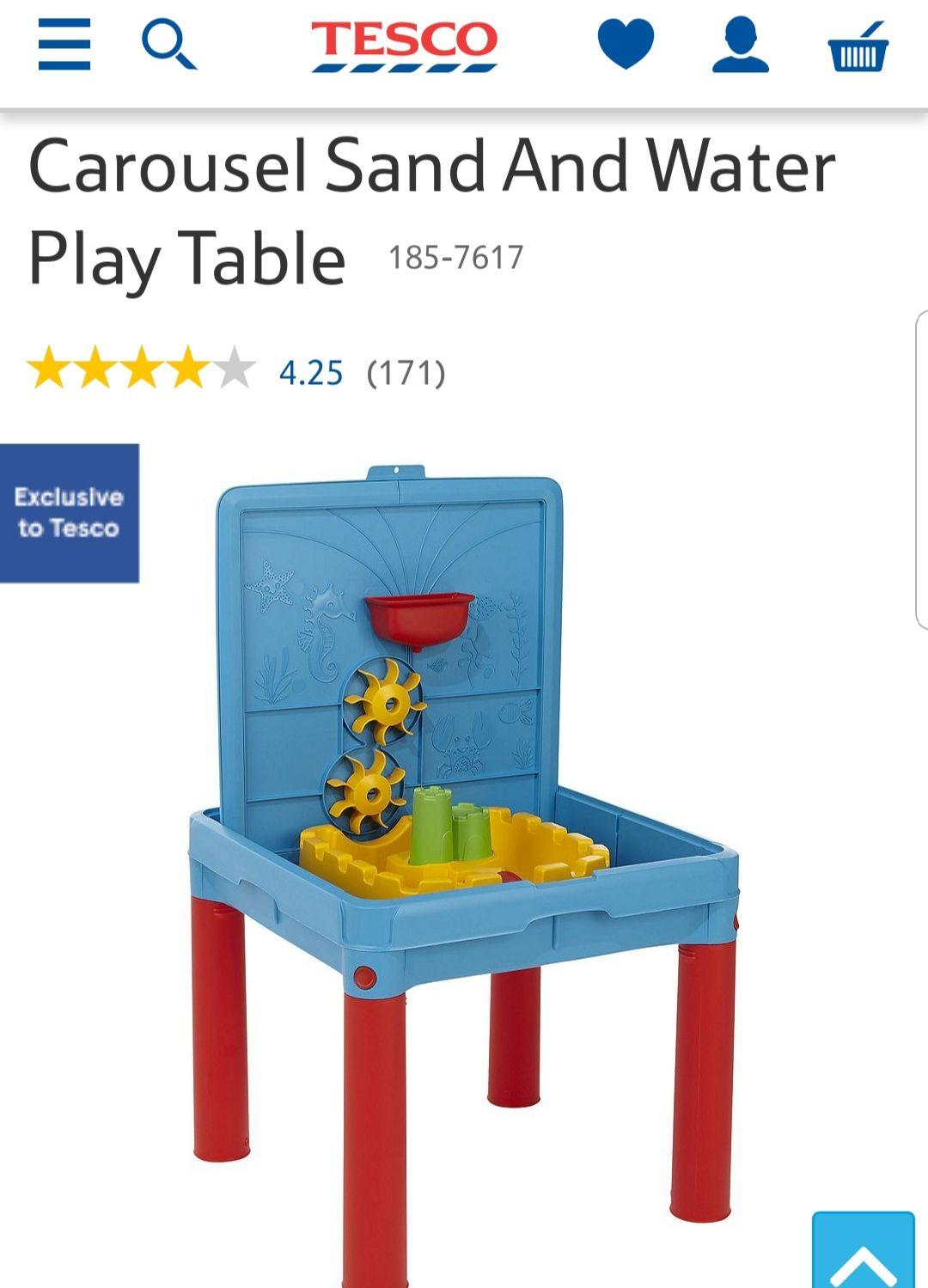 Tesco- Carousel Sand And Water Play Table £15 @ Tesco