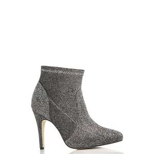 Debenhams online - Quiz - Grey textured pointed ankle boots(Size 3) £9.99