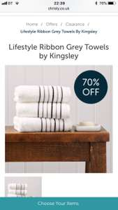 Christy towel clearance + 20% off with code