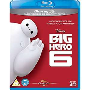 Big Hero 6 3D + Blu-Ray £4.99 Prime / £6.98 Non Prime @ Amazon