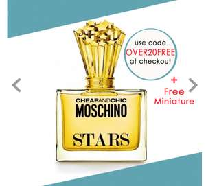 MOSCHINO Cheap and Chic Stars Eau De Parfum 100ml @ Beauty Base for £20 Plus Free Miniature and Free delivery with code OVER20FREE