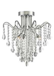 Matalan-Mia Crystal Glass Flush Chandelier (H40cm x W40cm) was £120 now £50 Delivered @ Matalan