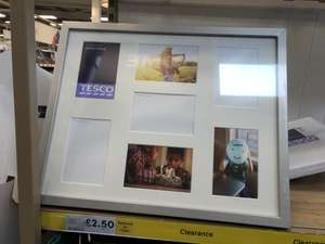 Tesco Photo Frames - Black or Silver - Instore - £2.50