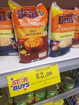 Uncle bens 3x multipack rice £2 @ home bargains