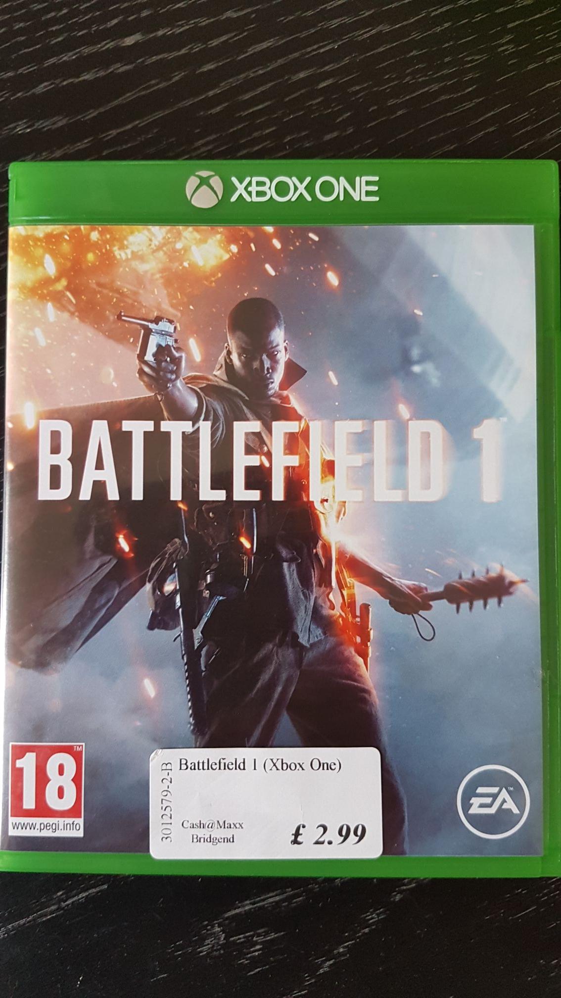 Battlefield 1 Xbox One £2.99 @ Cash Maxx (Bridgend)