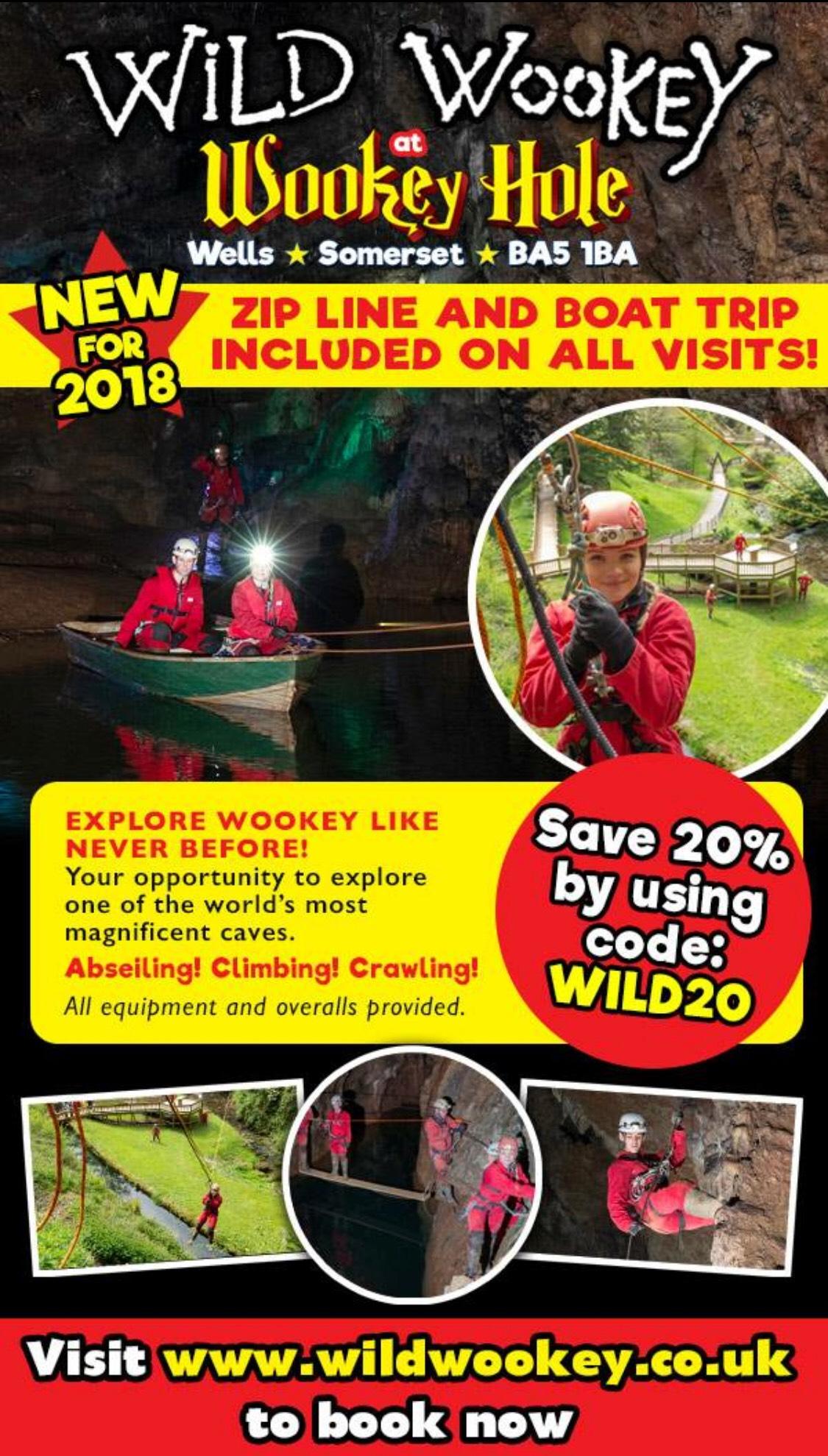 Wild Wookey Adventure Caving 20% off