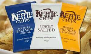 Kettle crisps 40g various flavours 5 for £1 Heron Foods