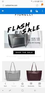 24 hours Flash sale 60% off Fiorelli. Bags £25 (was £69). Delivery is £3.95