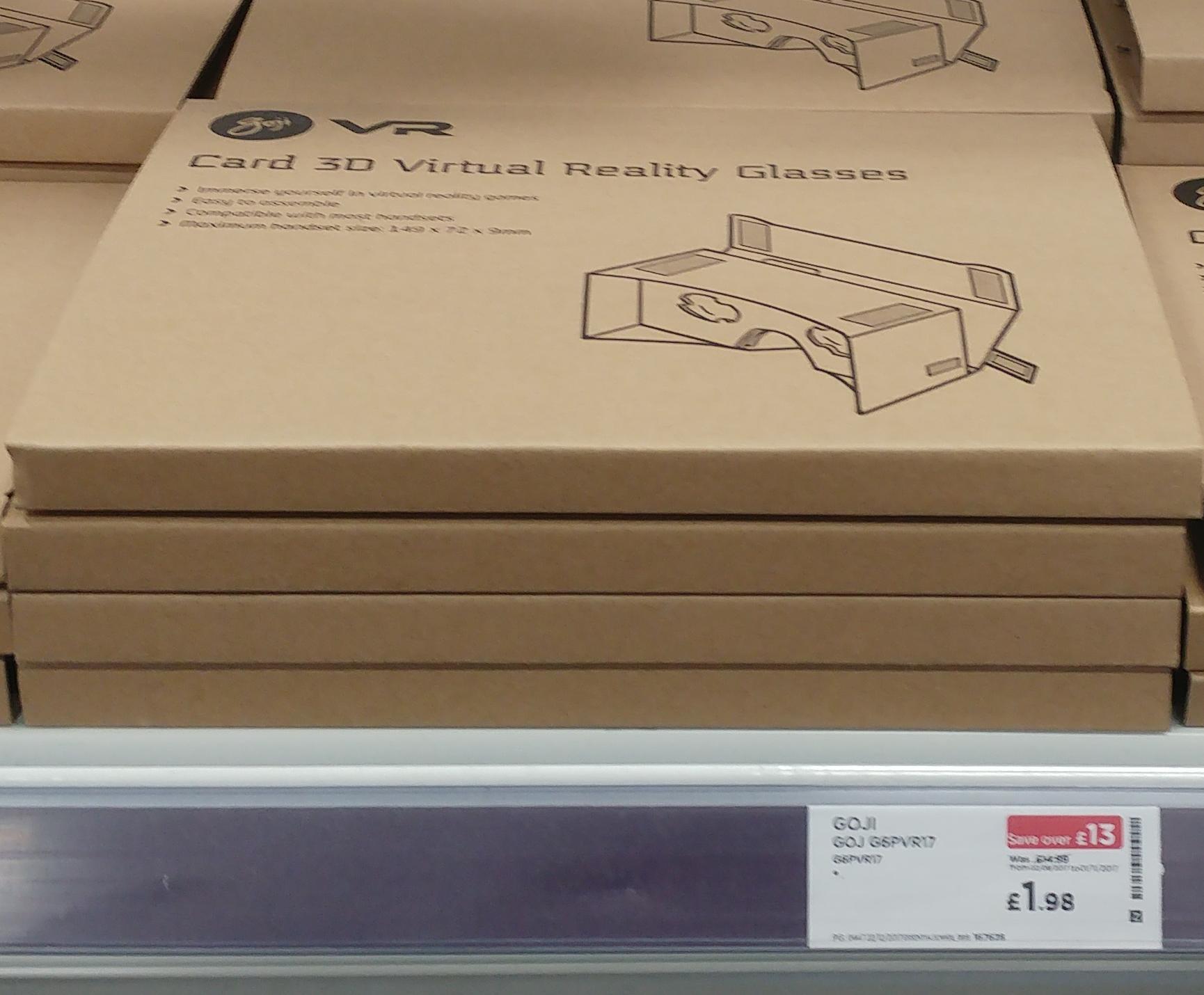 Goji Cardboard 3D Virtual Reality Glasses £0.97 instore @ PC World