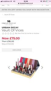 Urban Decay Vault of Vices - £75 @ House of Fraser
